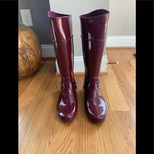 Michael Kors Rain Boots Gently Used